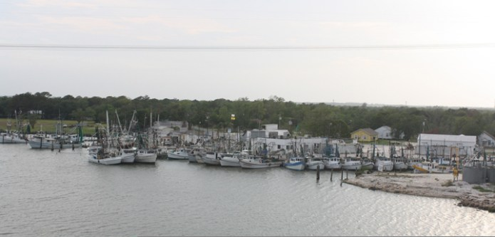 The shrimp fleet at Hillman's Seafood on Dickinson Bayou. One of the few remaining visual cues that shrimping was once a thriving industry on Galveston Bay.