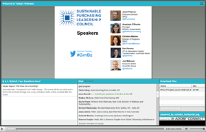 A screenshot of the webinar recording.