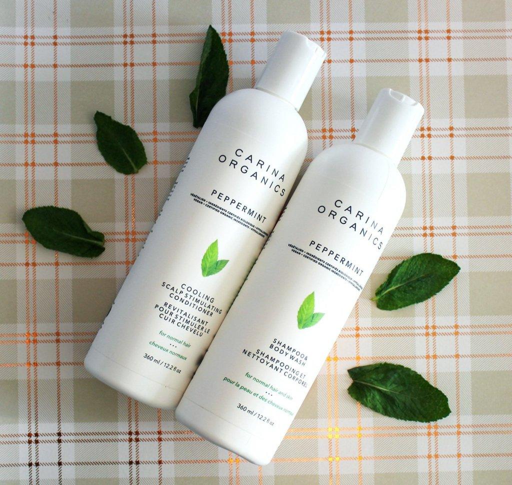 carina organics peppermint shampoo and conditioner
