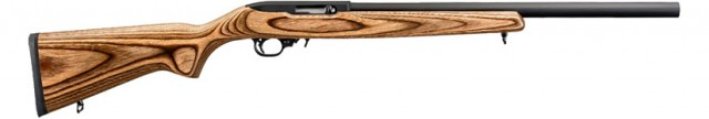 "This is a stock Ruger 10/22, the ""Target"" model, exactly as it would come from Ruger."