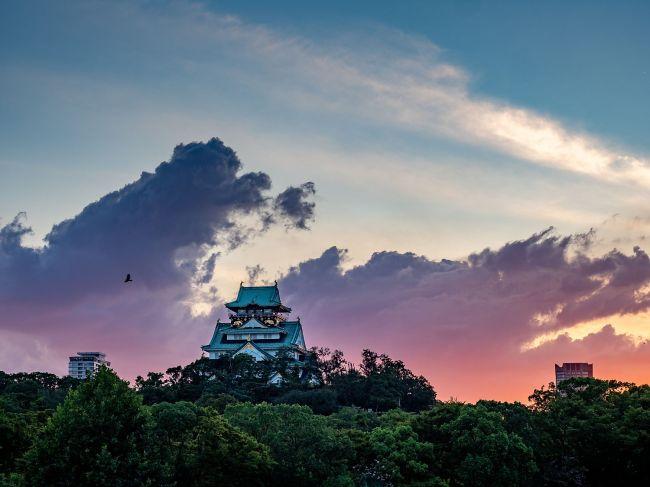 045 - Osaka Castle Sunset