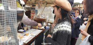 ร้านกาแฟน่ารักแก้วเป็นขนมปัง Miyagawa Morning Market