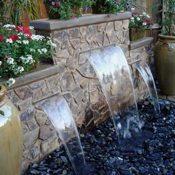 pondless fountains and waterfalls
