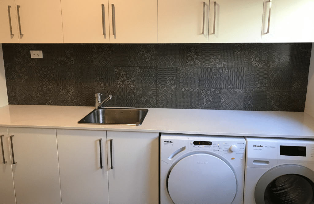 Menai Tiler Splashback Laundry & Kitchen Renovation
