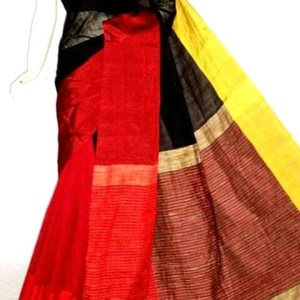 Mahapar Saree Cotton Silk Saree BP available MBSSRE-RDP-262