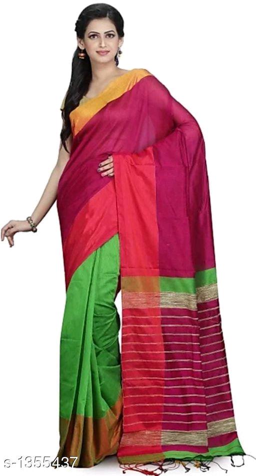 Mahapar Saree Cotton Silk Saree BP available MBSSRE-RDP-261