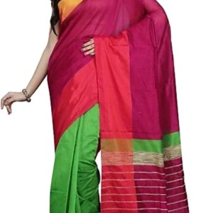 Mahapar Saree Cotton Silk Saree BP available MBSSRE-RDP-261