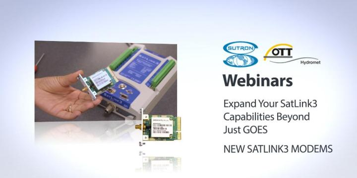SUTRON WEBINAR: Expand Your SatLink3 Capabilities Beyond Just GOES with Iridium or Cellular
