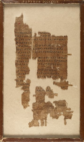 A photo of Sappho's original manuscript