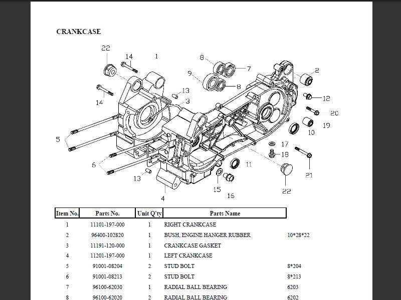 SUTTER® Parts Manual for Adly 150 Utility II