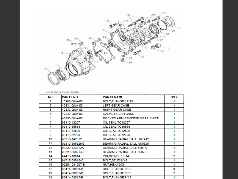 SUTTER® Parts Manual for Barossa 250H