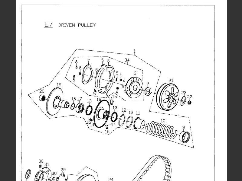 SUTTER® Parts Manual for PGO Bugxter 150