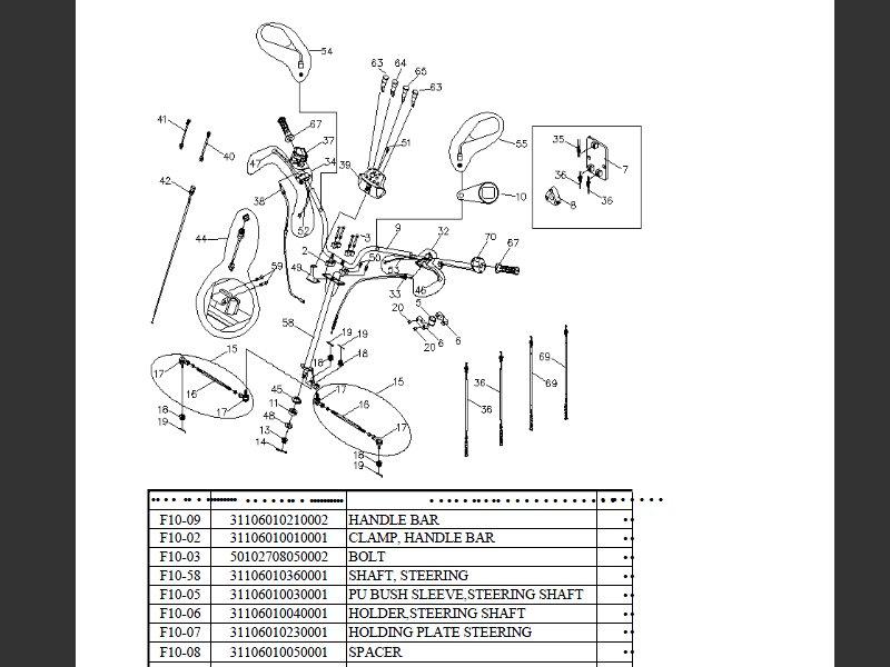 SUTTER® Parts Manual for Reinmech-Motortek MT125H Frame