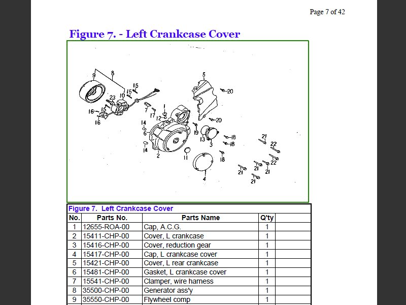 SUTTER® Parts Manual for Barossa SMC 170H