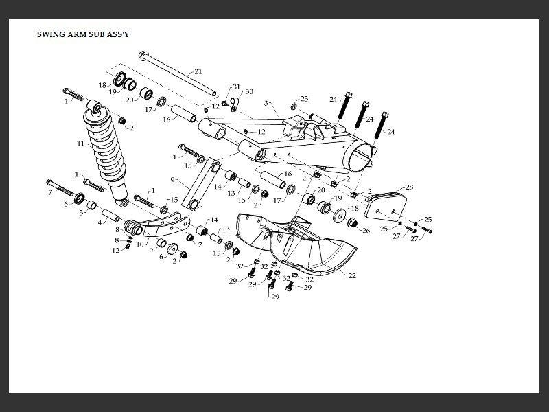 SUTTER® Parts Manual for DINLI 450 Frame