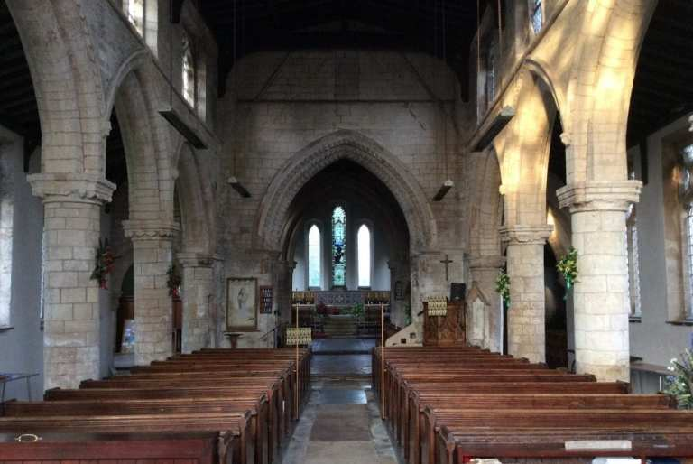 inside sutterton church