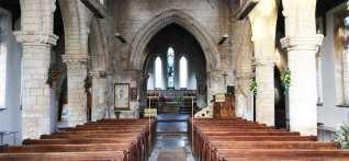 Inside St Mary's Church, Sutterton