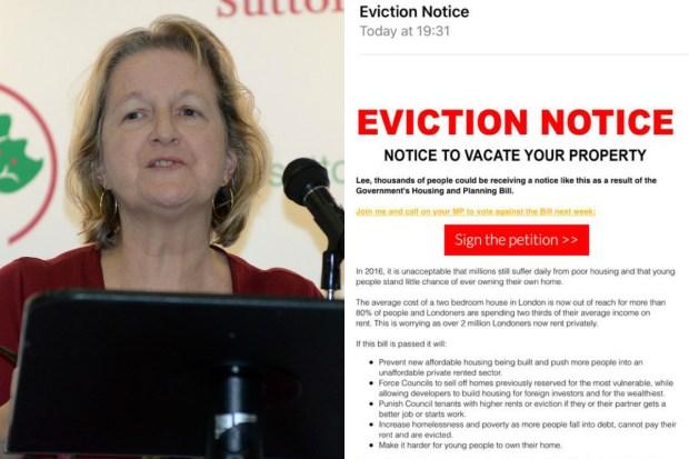 Lib Dem eviction notices