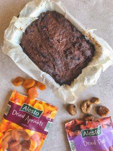 brownie met zoete aardappel