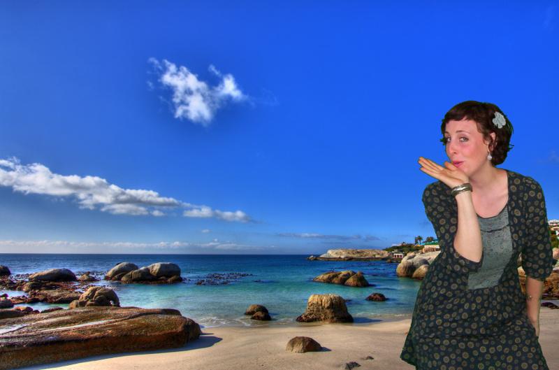 Shedhalle Sommeratelier Thema Strandurlaub: Eine Kusshand