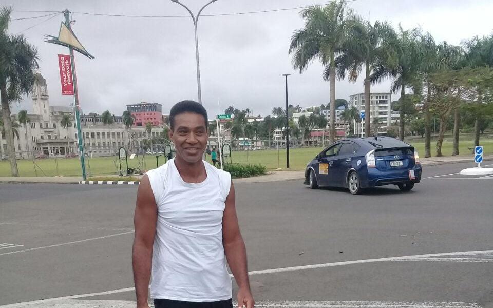 Lone runner Iliasa doing the hard yards, Dr kilometres, for us all this week ready for next week's #suva10k #suvamarathonclub #running #runFiji #readyforachallange