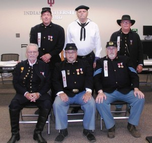 Front row (left to right) is Sec. Alan Teller, Dept. Commander Bill Adams, PDC Mike Beck. Back row (left to right) is JV Dept. commander Tim Beckman, SV Dept  Commander Dennis Rigsby, and Dept Chaplain Bret Caldwell.