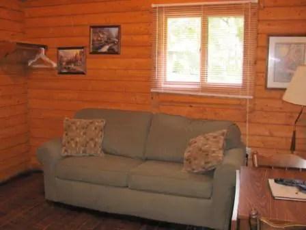 sofa sleeper for cabin headrest protectors log vacation rentals resort in mayo florida suwannee
