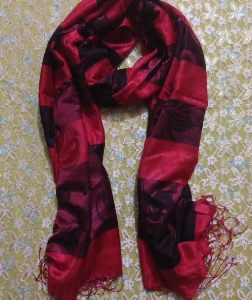 Multi Striped Hijab – Red