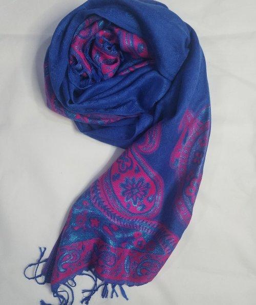 Printed Pashmina – Blue – Full Picture