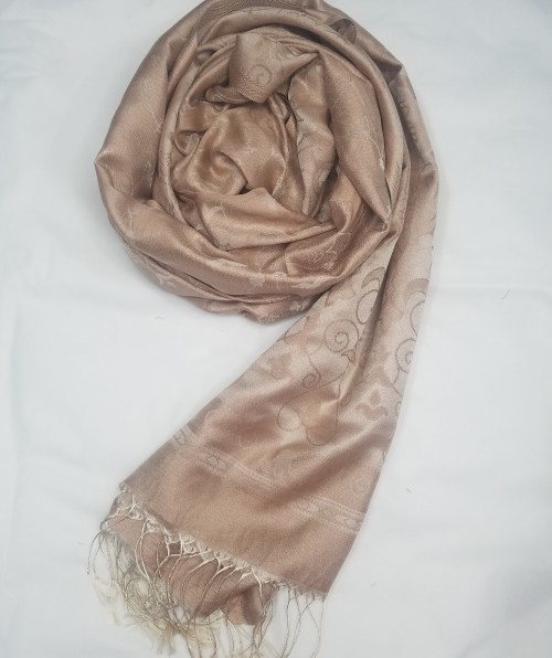 silk printed scarf nude full picture