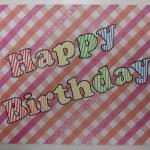 Verjaardagskaart: met de tchniek: Tekst overbrengen