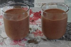 Chocolade mousse in dessert glaasjes