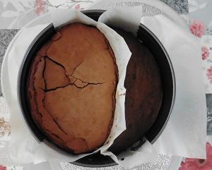Chocolade taart eiwit ingezakt