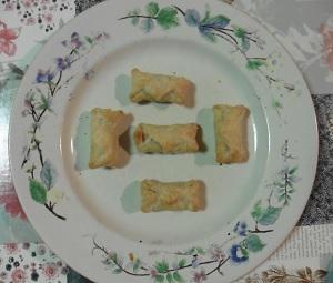 knakworstjes in bladerdeeg 5 stuks uit de oven
