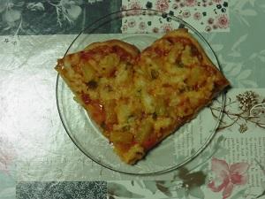 Snel pizza maken een van de vier harten