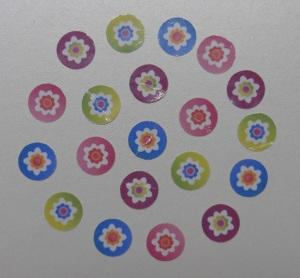 Stickers maken alle bloemen geknipt