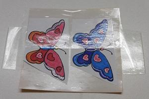 Stickers maken groot vlinders afplakken met plankband deel 1