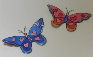 Stickers maken groot vlinders uitgeknipt