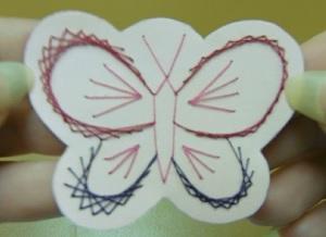 Borduursel decoratie vlinder weekoverzicht