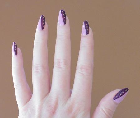 Nail art meer kleur linkse hand