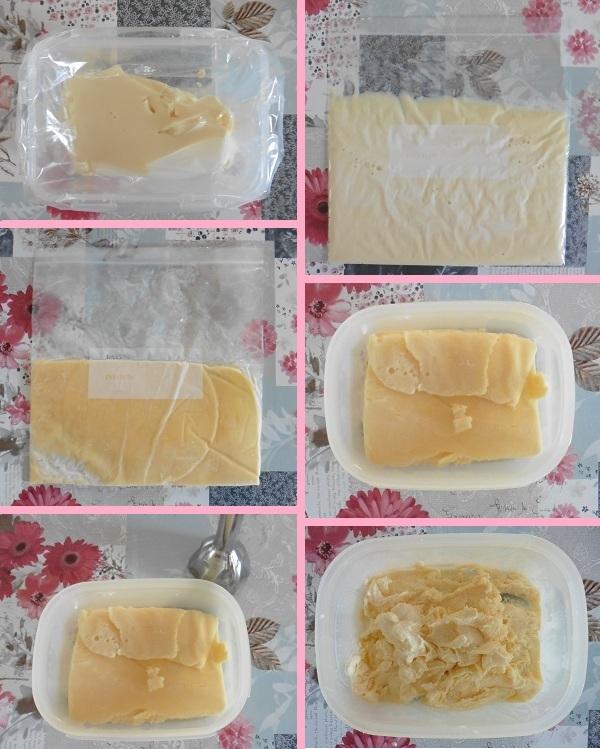 Vanille roomijs zakje ijs optie