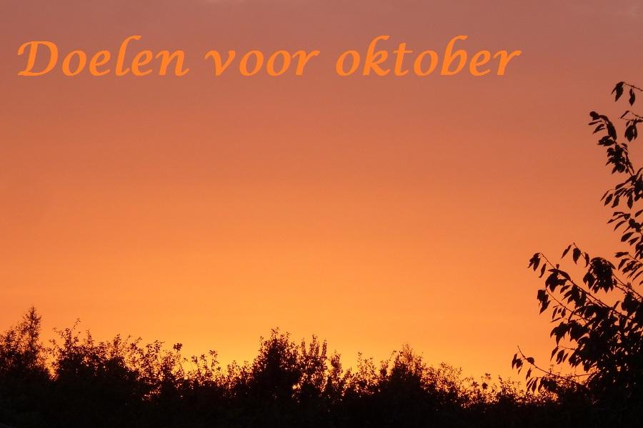 doelen voor oktober