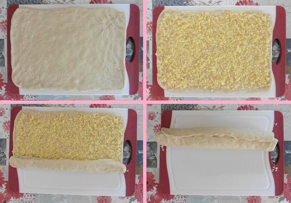 Kaas broodjes kaas oprollen