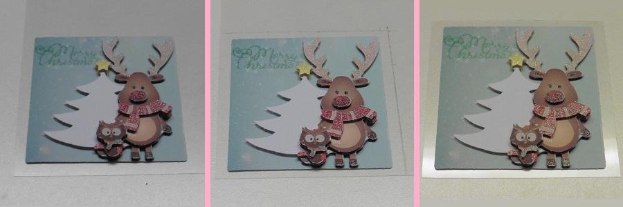 3d-kerstkaarten-action-hert-plastic-op-maat-maken