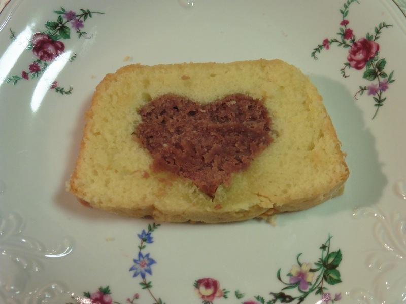Valentijns cake met hart erin