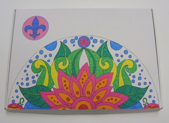Kleuren voor volwassenen (Brievenbusdoos mandala)