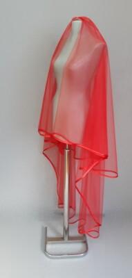 kırmızı yumuşak akıcı sade kına duvağı modelleri