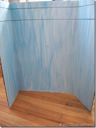 Display Board with Blue Wash