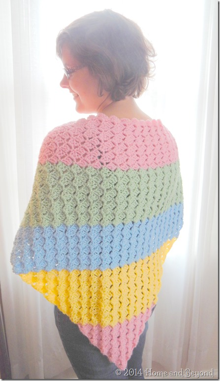 Colorful Corner-to-Corner Shawl