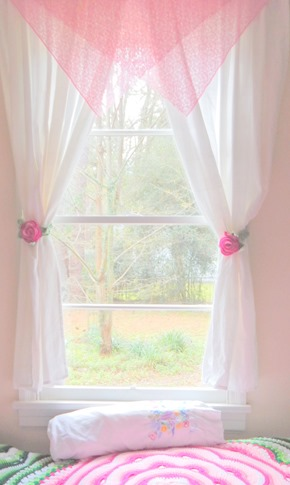 Rose Curtain Ties